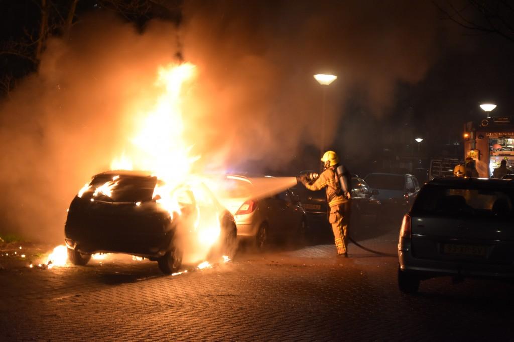 Autobrand Kolebossenlaan IJmuiden