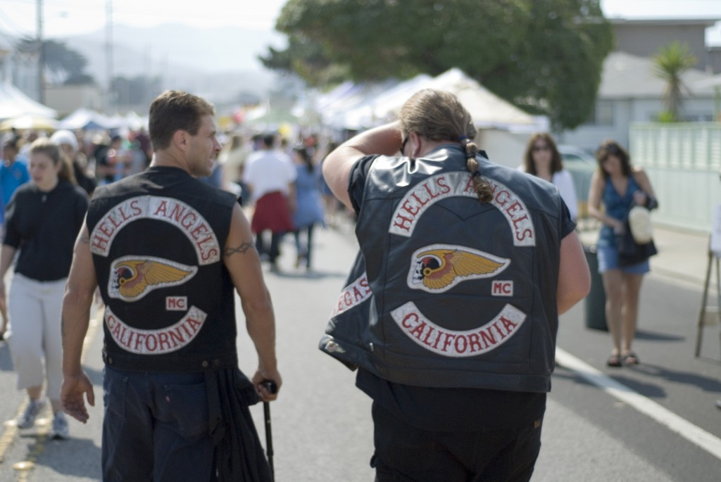 Hells Angels schoppen festivalgangers