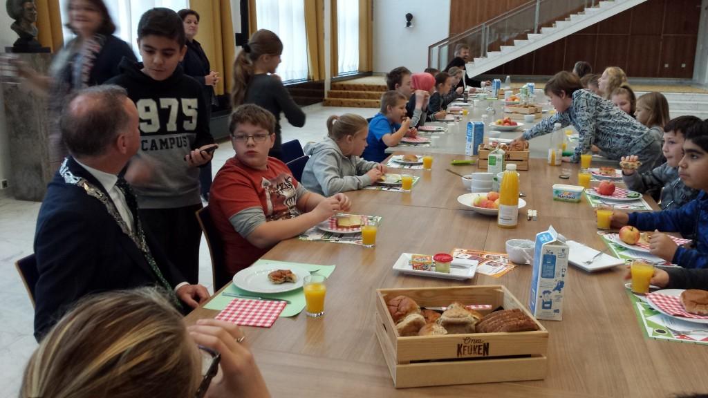 'Trump' ontbreekt niet bij schoolontbijt