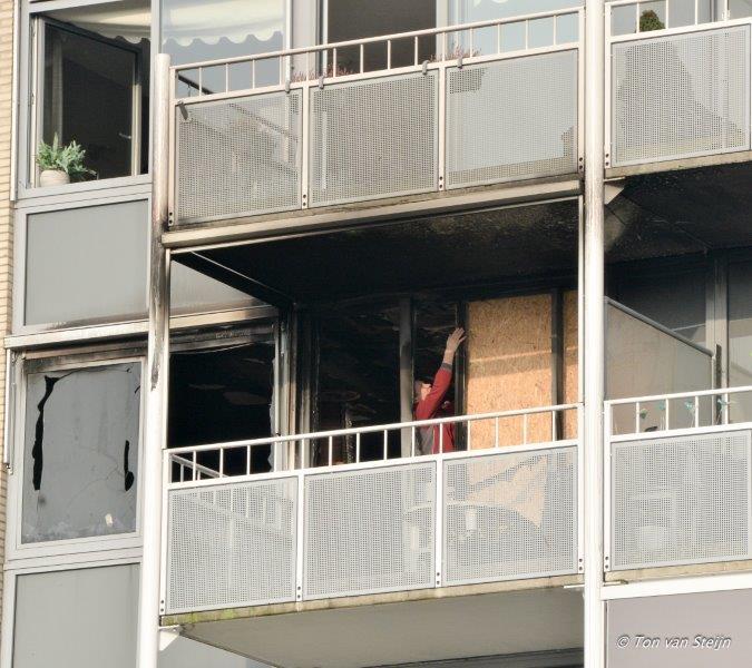 Grote brand in Velserbroekse flat