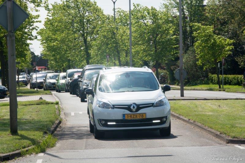 Lange files in Driehuis en Santpoort