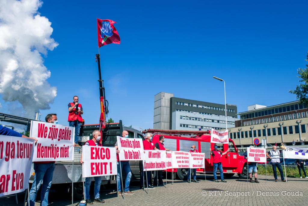 Groot toeterprotest bij Tata Steel