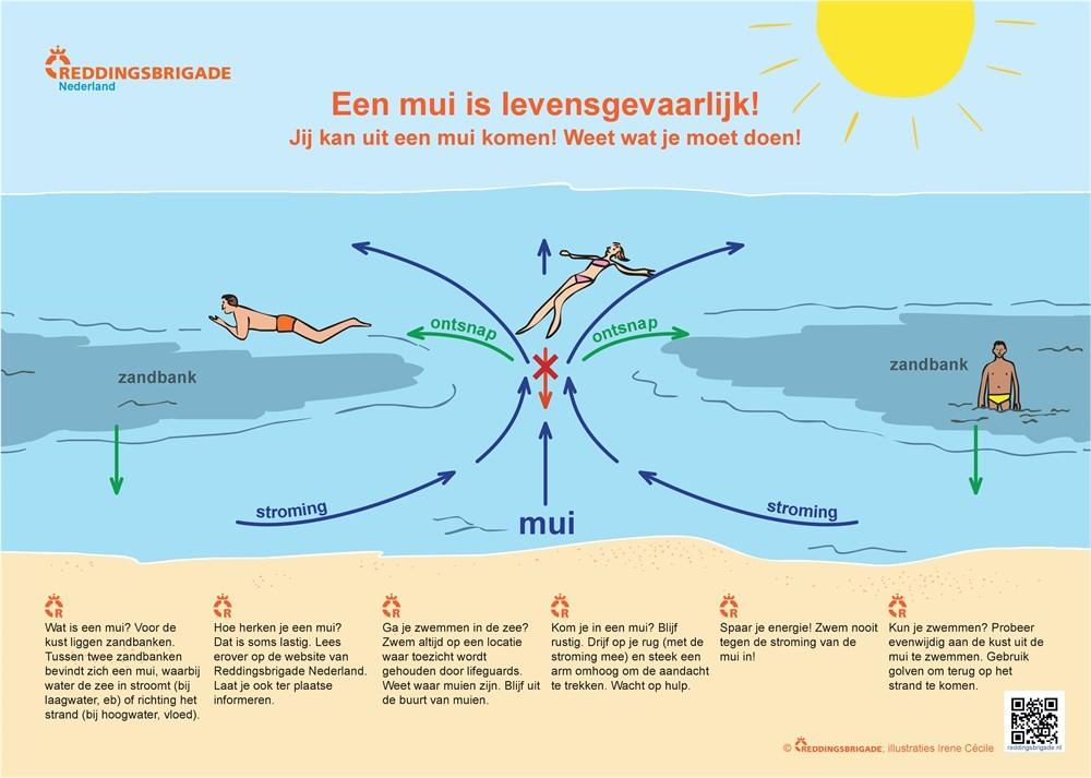 Veilig zwemmen in zee