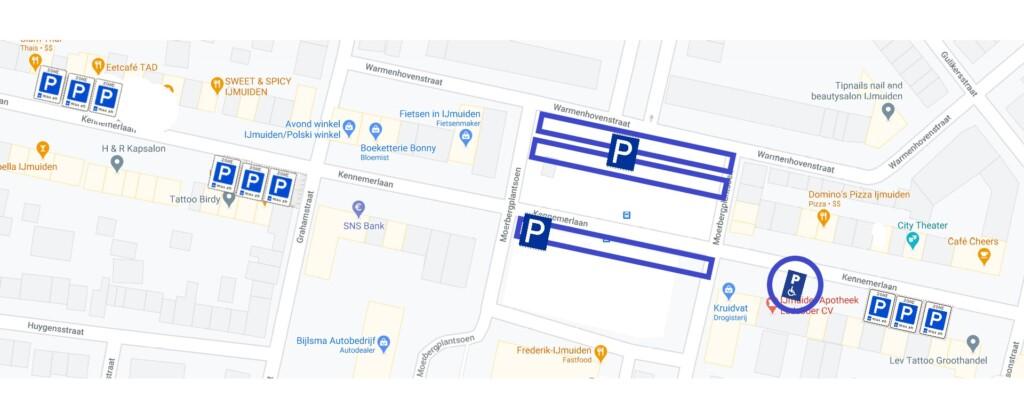 Nieuw voorstel instellen blauwe parkeerzone in de Kennemerlaan