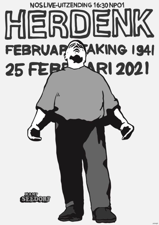 Kranslegging Februaristaking in Velsen-Noord