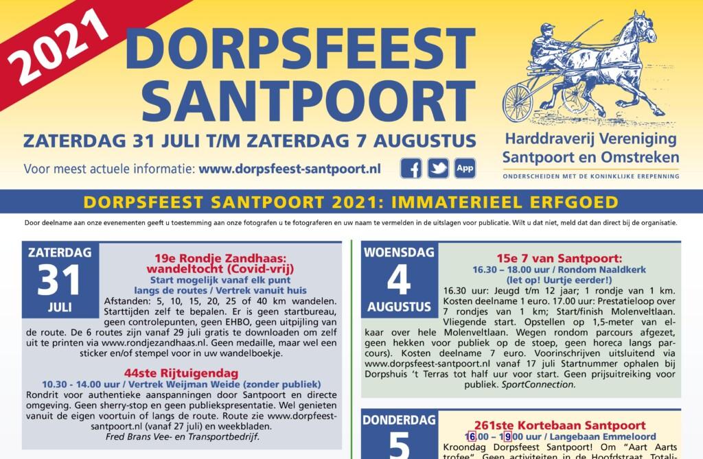 Aangepast programma Dorpsfeest(je) Santpoort bekend