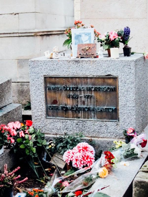 Jim Morrison grave at Pere La Chaise Cemetary