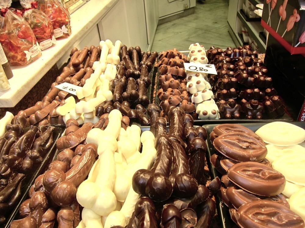 chocolate body parts in Belgium