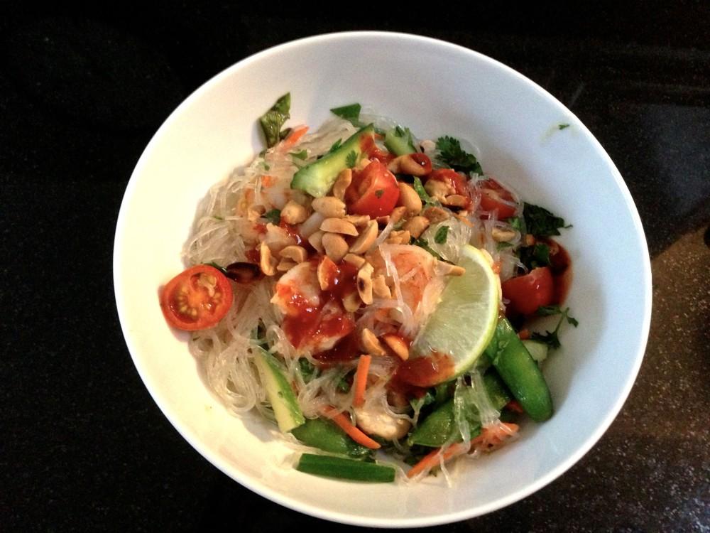 Thai Noodle Salad Recipe | www.rtwgirl.com