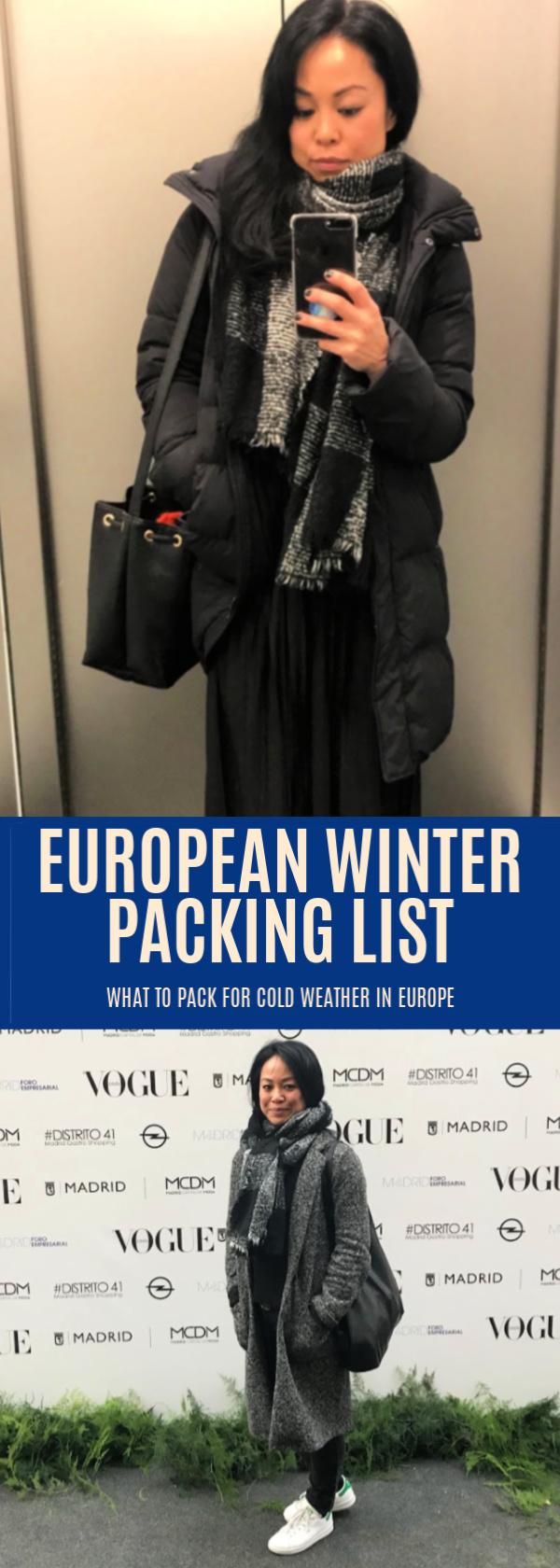 European Winter Packing List