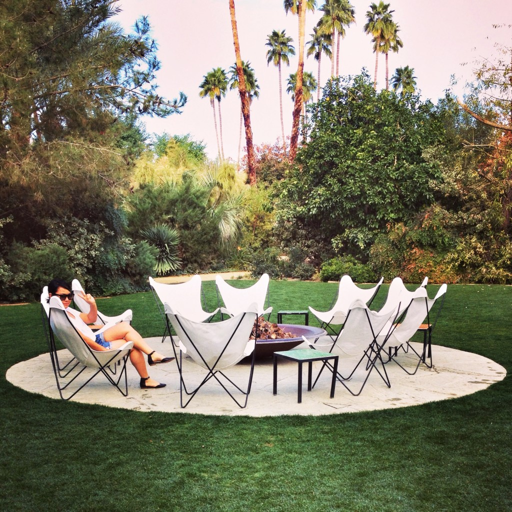 Fire Pits at Parker Palm Springs | www.rtwgirl.com