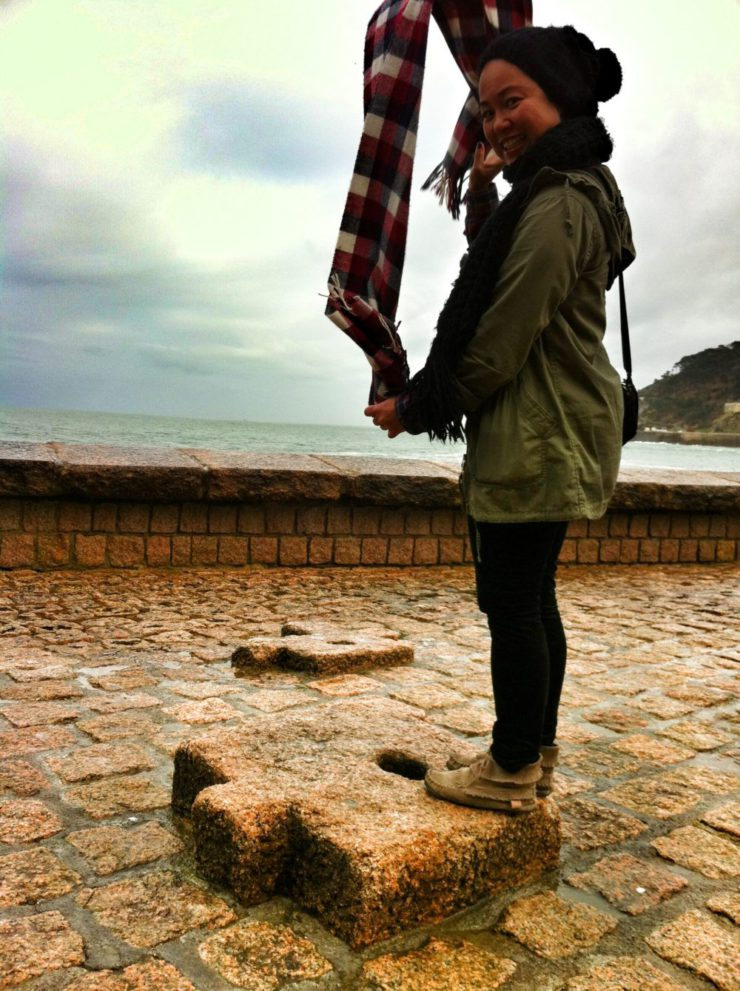 Round the World Girl In San Sebastian Spain