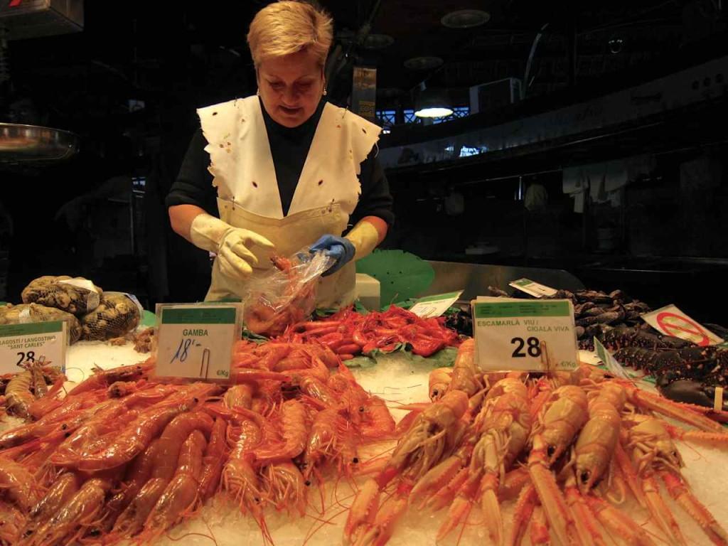 La Boqueria Barcelona Seafood