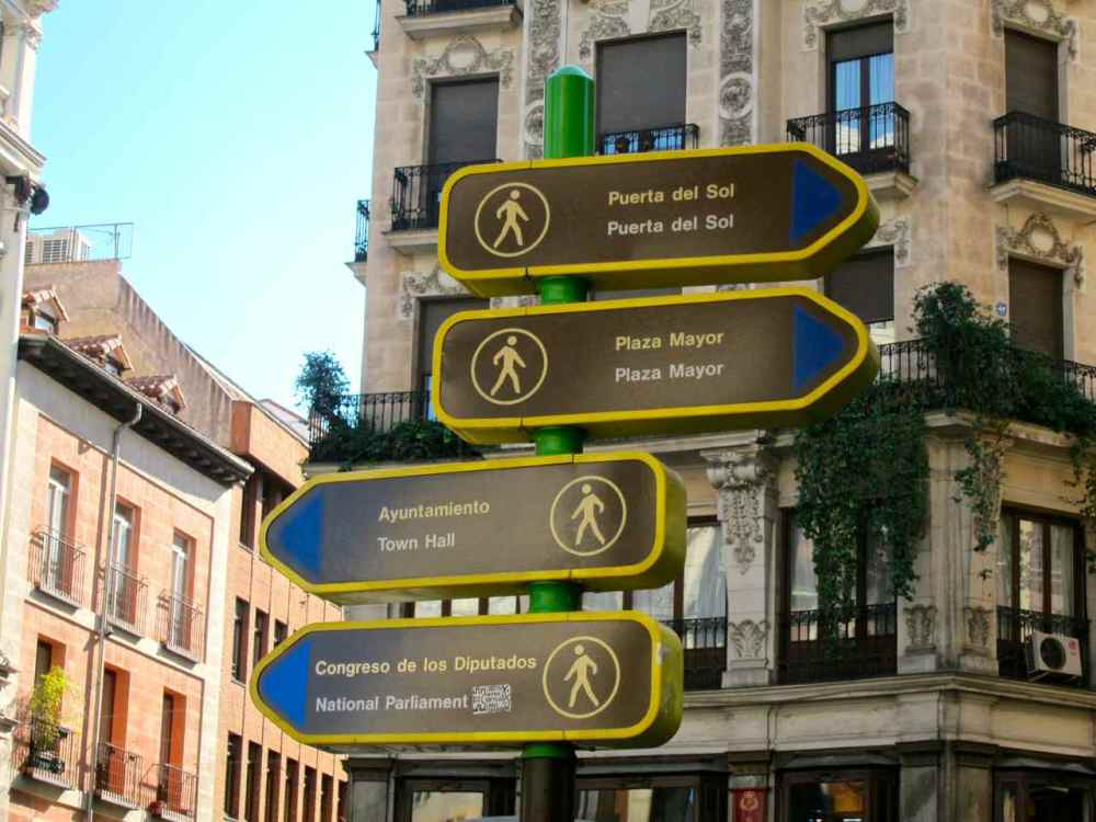 Signs - Madrid Travel Tips