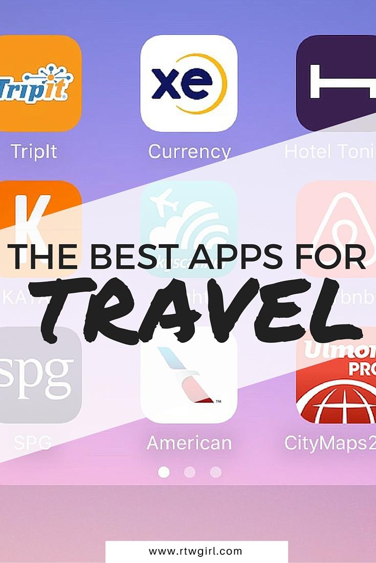 The Best Travel Apps | www.rtwgirl.com