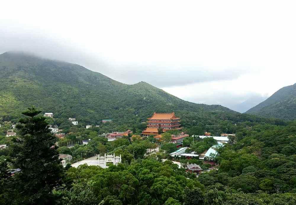View from Tian Tan Buddha   rtwgirl