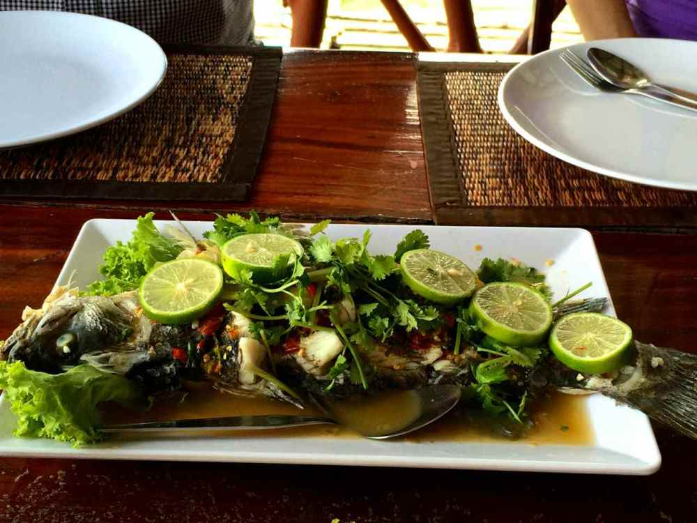 Seafood at Koh Panyee Island Fishing Village