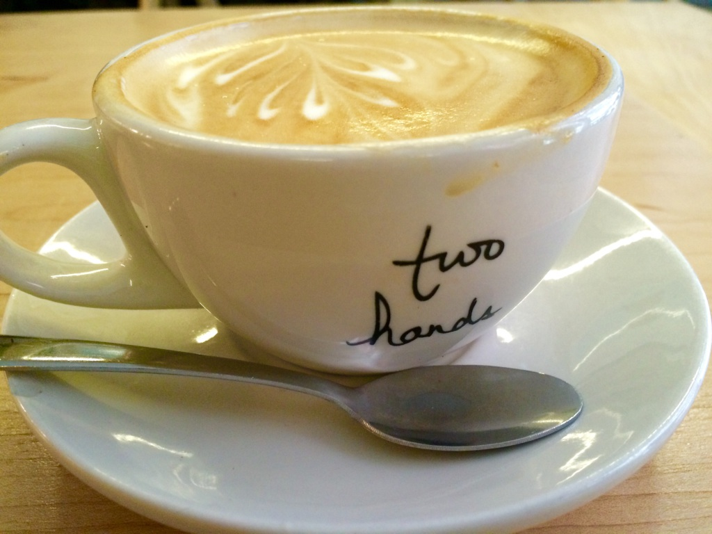 Flat White Two Hands - New York Coffee   www.rtwgirl.com