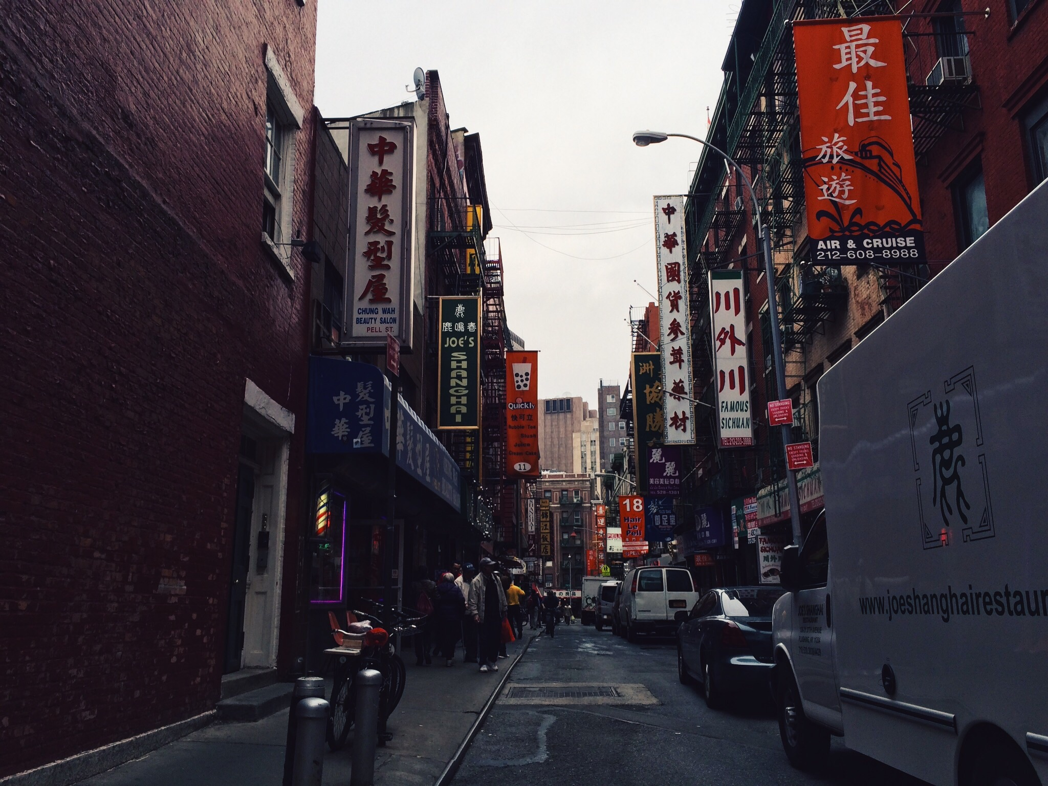 Pell and Doyers Chinatown NYC
