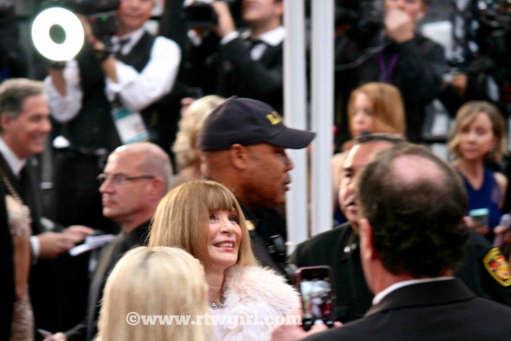 Anna Wintour Oscars Red Carpet 2015
