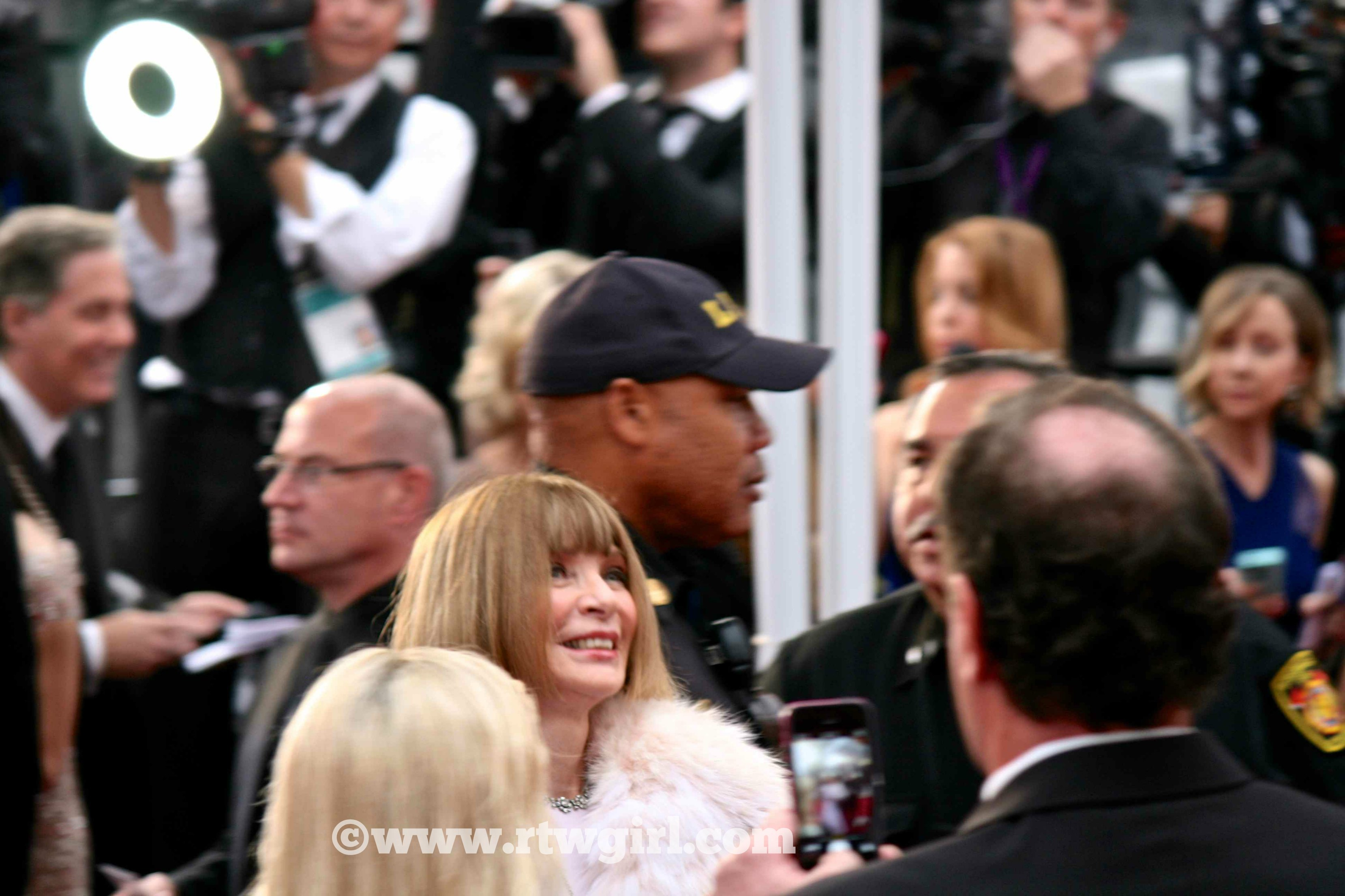 Anna Wintour Oscars Red Carpet 2015