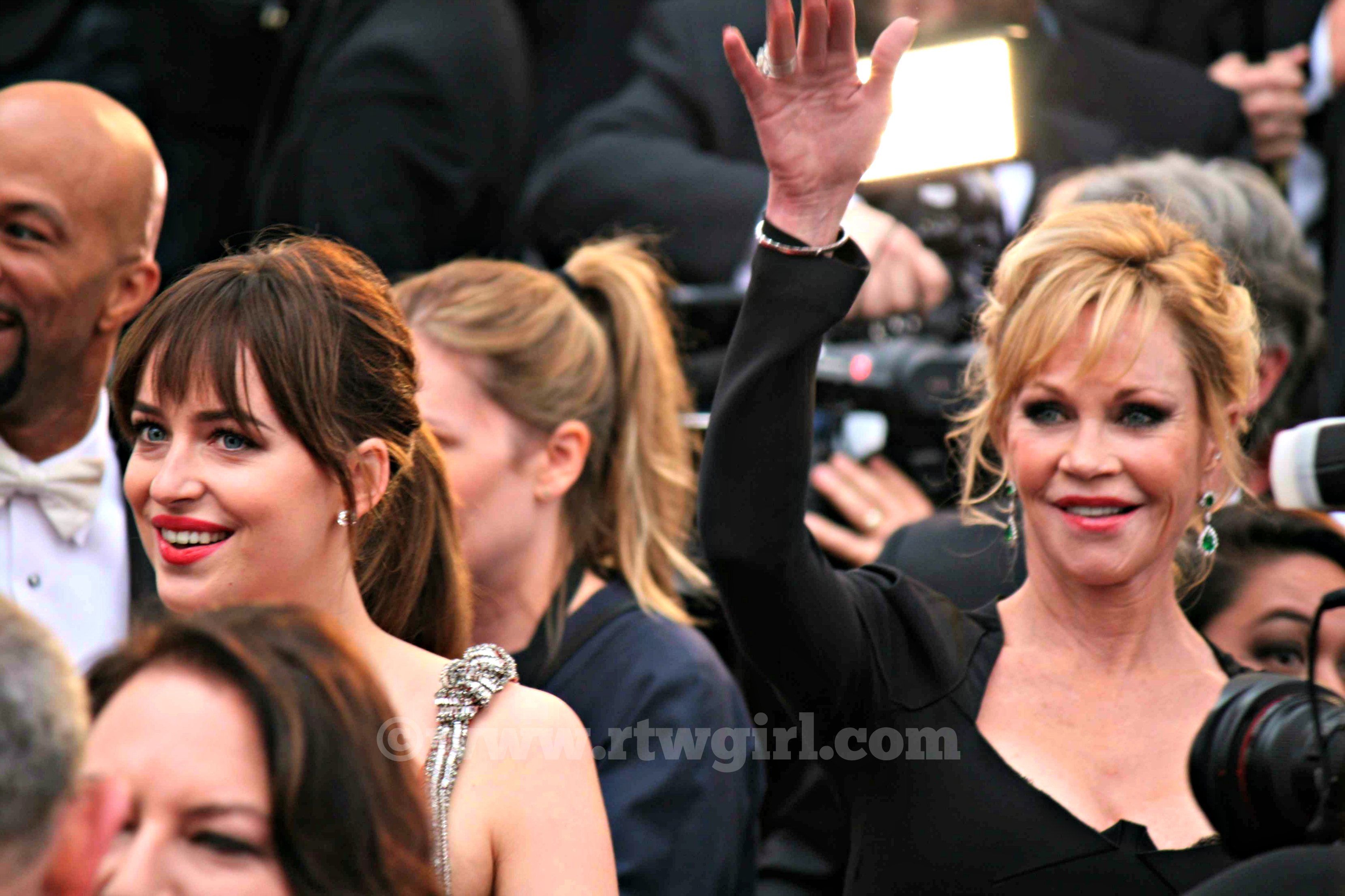 Dakota Johnson Melanie Griffith Red Carpet 2015