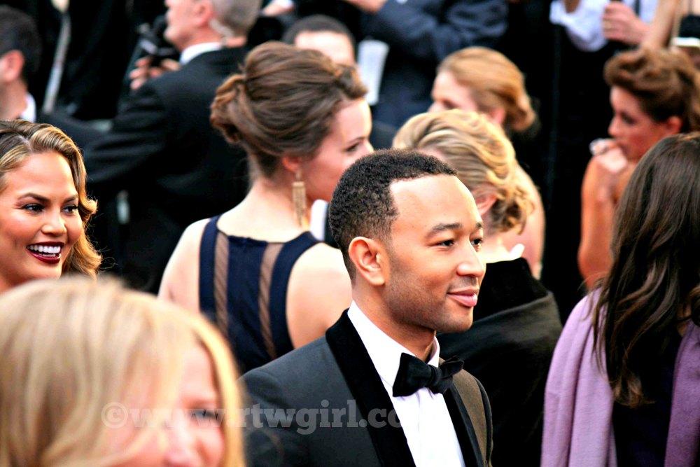 John Legend Chrissy Teigen Oscars Red Carpet 2015