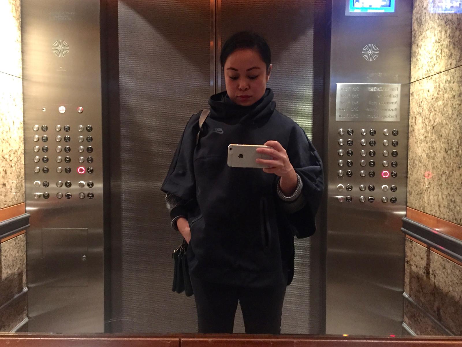 NYC Elevator Selfie | www.rtwgirl.com