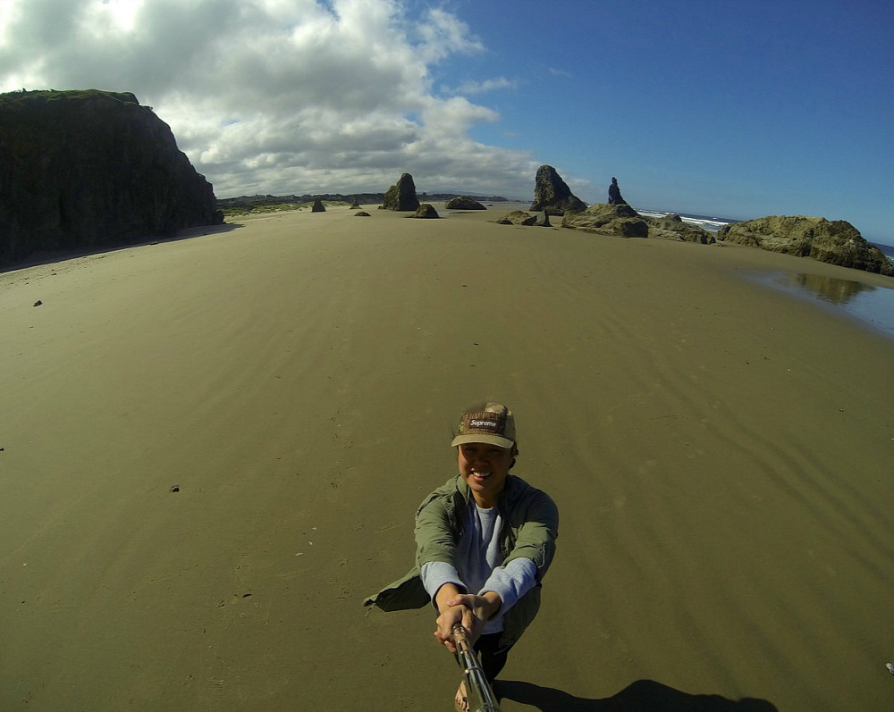 GoPro Selfie Bandon, Oregon Coast