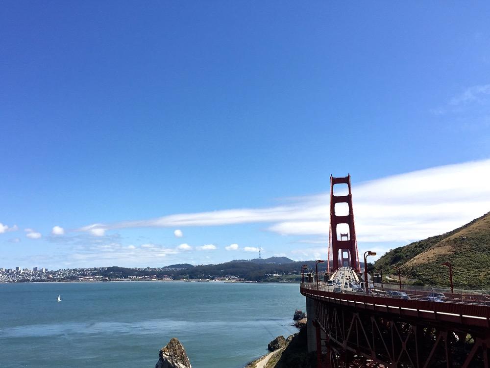 Golden Gate Bridge from Marin side