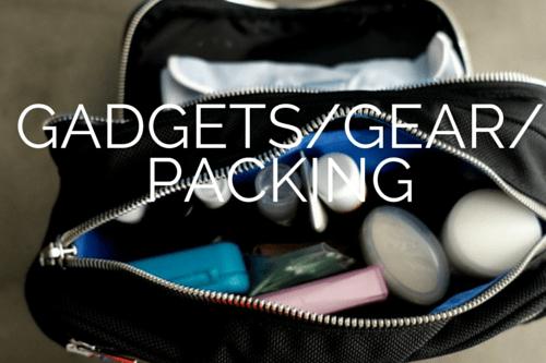 GADGETS GEAR PACKING