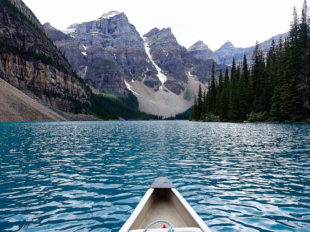 Moraine Lake - Banff, Alberta | www.rtwgirl.com