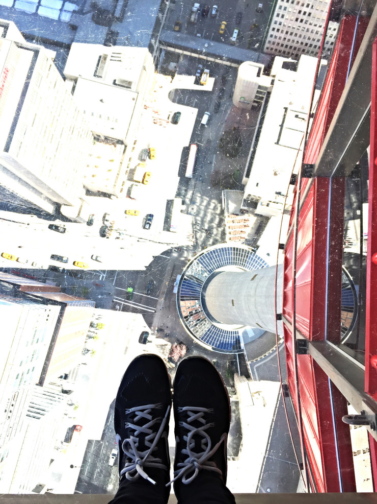 Calgary Tower glass floor
