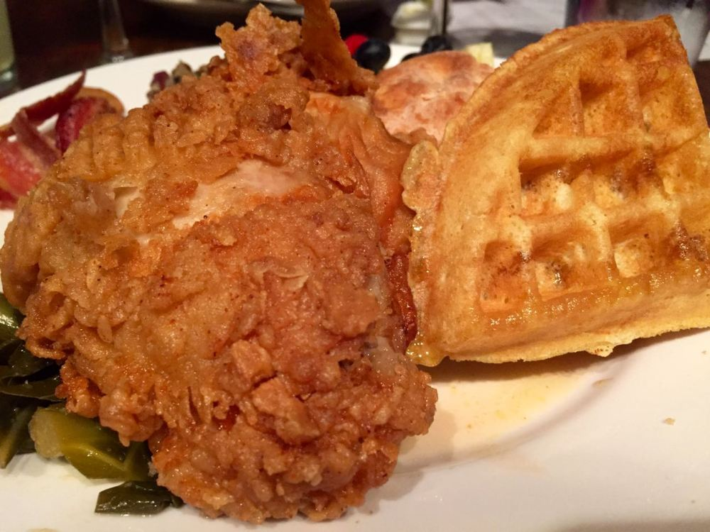 Chicken and Waffles at Freight Woodstock Georgia