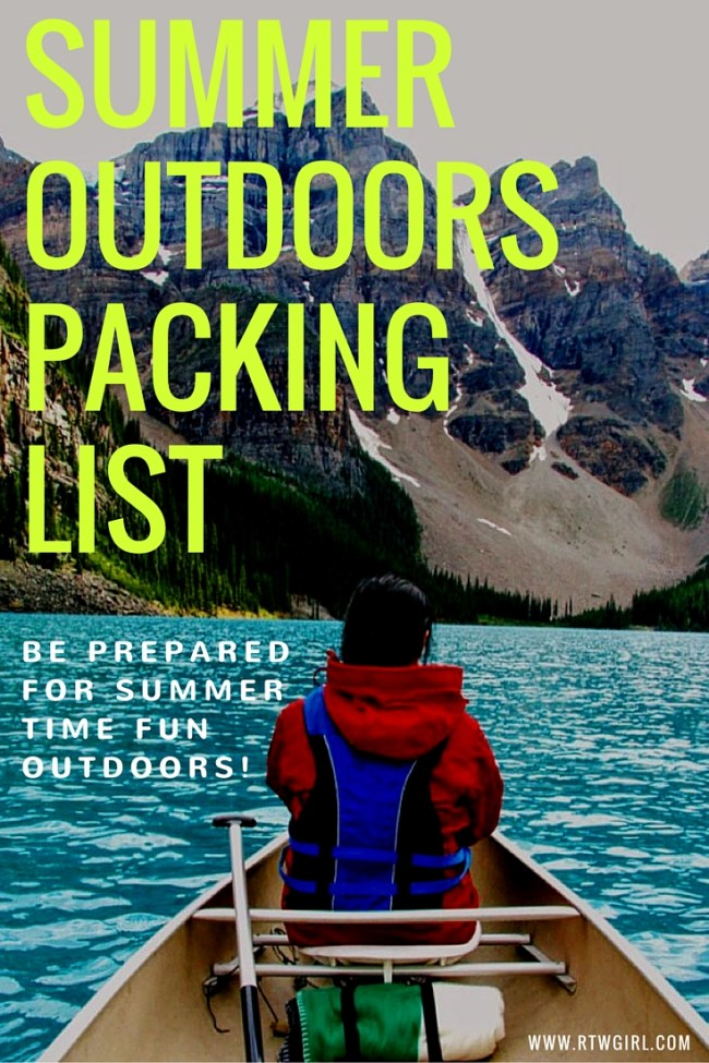 Summer Outdoors Packing List | www.rtwgirl.com