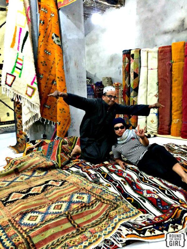 Carpet shopping in Essouira