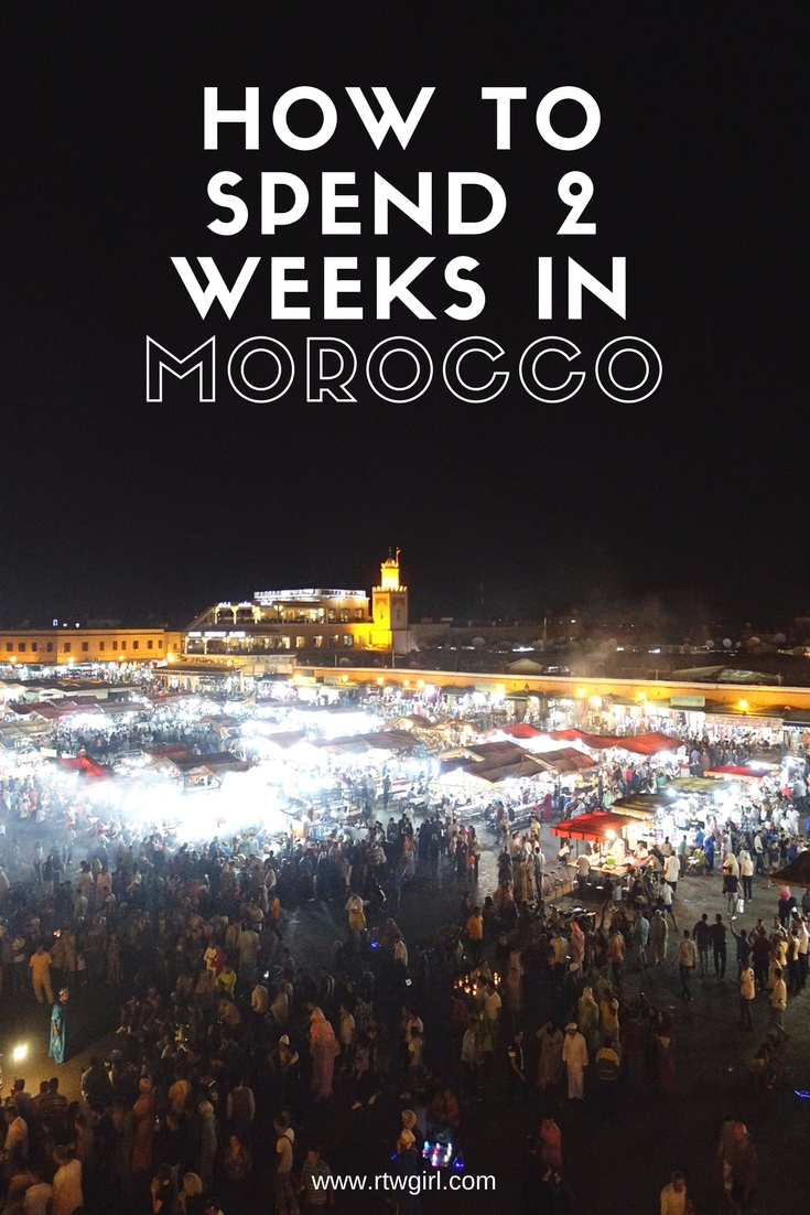How to spend 2 weeks in Morocco | www.rtwgirl.com