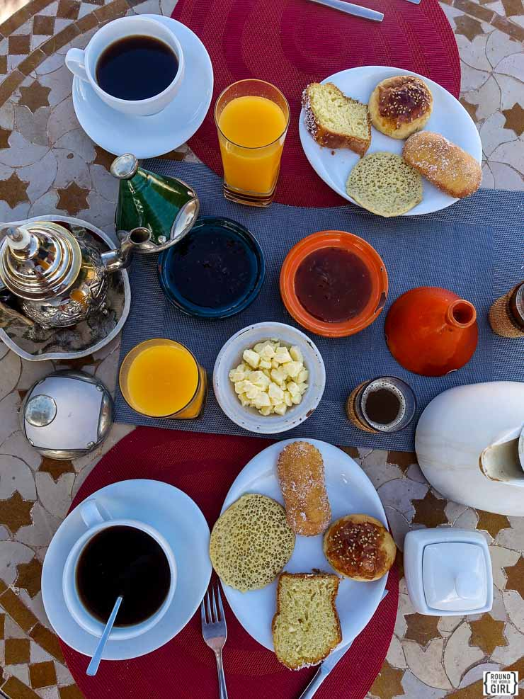 Breakfast at Riad Nesma - Morocco Riads Where To Stay | via www.rtwgirl.com