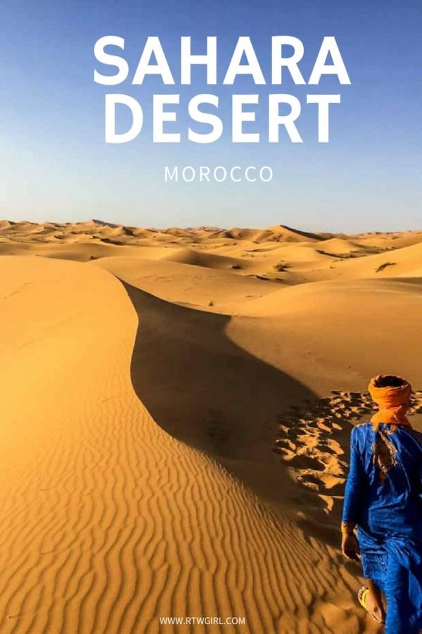 Erg Chebbi - Morocco's Sahara Desert   www.rtwgirl.com