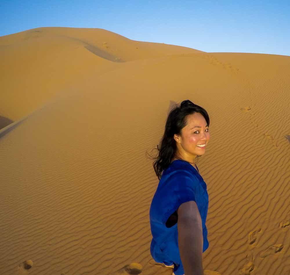 GoPro Sahara Desert Selfie at Erg Chebbi