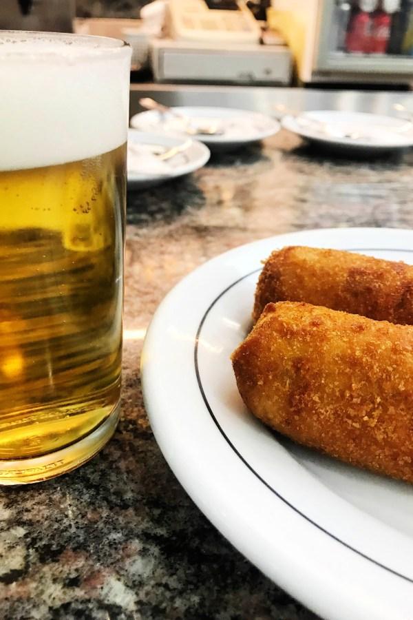 Tapas - Croquetas y caña at Bar Rocablanca in Malasaña