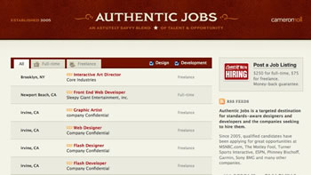 authentic jobs