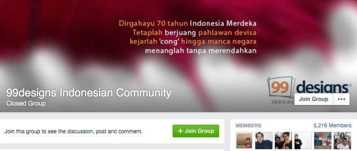 komunitas Facebook Grup 99designs Indonesia