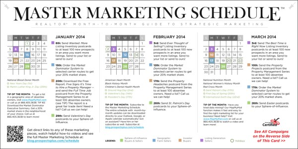 Monthly Marketing Calendar