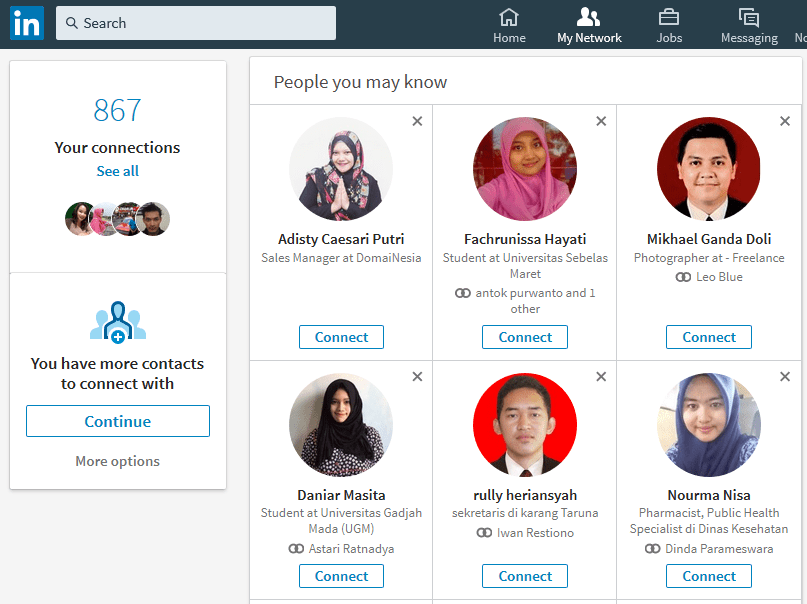LinkedIn - My Network