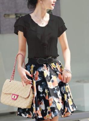 Блуза женская 171745 черный цвет