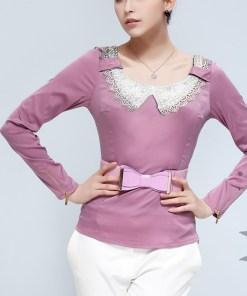 Блуза женская 1233 сиреневый цвет