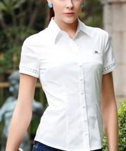 Блузка женская 13102 белый цвет