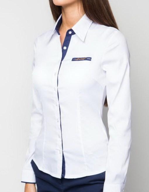 Блузка женская 13119 белый цвет