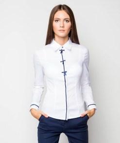 Блузка женская 13122 белый цвет